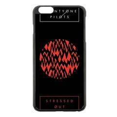 Albums By Twenty One Pilots Stressed Out Apple Iphone 6 Plus/6s Plus Black Enamel Case by Onesevenart