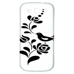 Birds Flower Rose Black Animals Samsung Galaxy S3 S Iii Classic Hardshell Back Case by Mariart