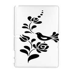 Birds Flower Rose Black Animals Galaxy Note 1 by Mariart