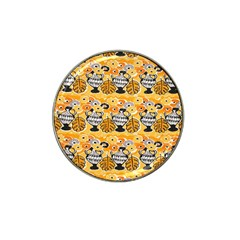 Amfora Leaf Yellow Flower Hat Clip Ball Marker (4 Pack) by Mariart