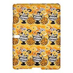 Amfora Leaf Yellow Flower Samsung Galaxy Tab S (10 5 ) Hardshell Case  by Mariart