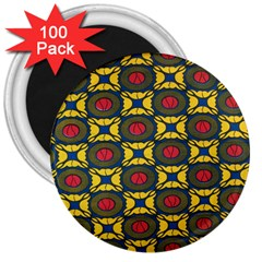 African Textiles Patterns 3  Magnets (100 Pack) by Mariart