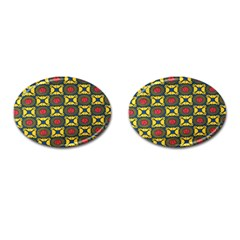 African Textiles Patterns Cufflinks (oval) by Mariart