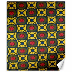 African Textiles Patterns Canvas 8  X 10  by Mariart