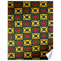 African Textiles Patterns Canvas 12  X 16   by Mariart