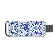 Birds Fish Flowers Floral Star Blue White Sexy Animals Beauty Portable Usb Flash (two Sides) by Mariart