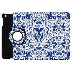 Birds Fish Flowers Floral Star Blue White Sexy Animals Beauty Apple Ipad Mini Flip 360 Case by Mariart