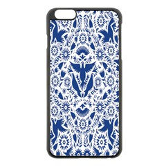 Birds Fish Flowers Floral Star Blue White Sexy Animals Beauty Apple Iphone 6 Plus/6s Plus Black Enamel Case by Mariart