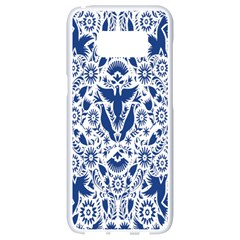 Birds Fish Flowers Floral Star Blue White Sexy Animals Beauty Samsung Galaxy S8 White Seamless Case by Mariart