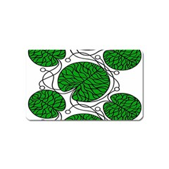 Bottna Fabric Leaf Green Magnet (name Card) by Mariart
