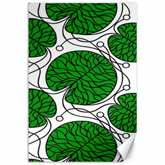 Bottna Fabric Leaf Green Canvas 12  X 18