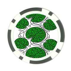 Bottna Fabric Leaf Green Poker Chip Card Guard by Mariart