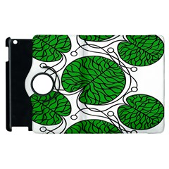 Bottna Fabric Leaf Green Apple Ipad 3/4 Flip 360 Case by Mariart