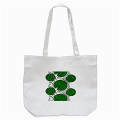 Bottna Fabric Leaf Green Tote Bag (white) by Mariart