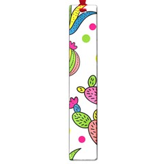 Cactus Seamless Pattern Background Polka Wave Rainbow Large Book Marks by Mariart