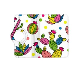 Cactus Seamless Pattern Background Polka Wave Rainbow Kindle Fire Hd (2013) Flip 360 Case by Mariart