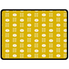 Circle Polka Chevron Orange Pink Spot Dots Double Sided Fleece Blanket (large)  by Mariart