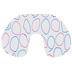 Circles Featured Pink Blue Travel Neck Pillows by Mariart