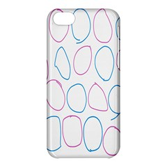 Circles Featured Pink Blue Apple Iphone 5c Hardshell Case by Mariart