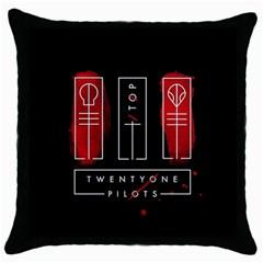 Twenty One Pilots Throw Pillow Case (black) by Onesevenart