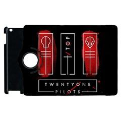 Twenty One Pilots Apple Ipad 3/4 Flip 360 Case by Onesevenart