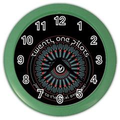 Twenty One Pilots Color Wall Clocks by Onesevenart