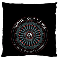 Twenty One Pilots Large Flano Cushion Case (two Sides) by Onesevenart