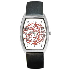 Twenty One Pilots Tear In My Heart Soysauce Remix Barrel Style Metal Watch by Onesevenart