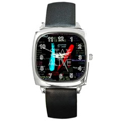 Twenty One Pilots Stay Alive Song Lyrics Quotes Square Metal Watch by Onesevenart
