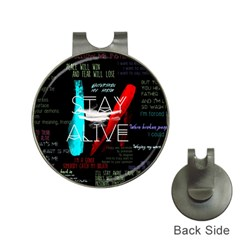 Twenty One Pilots Stay Alive Song Lyrics Quotes Hat Clips With Golf Markers by Onesevenart