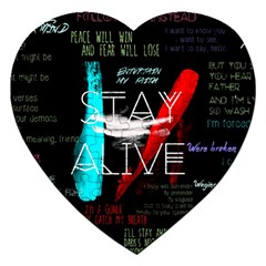 Twenty One Pilots Stay Alive Song Lyrics Quotes Jigsaw Puzzle (heart) by Onesevenart