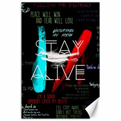 Twenty One Pilots Stay Alive Song Lyrics Quotes Canvas 24  X 36  by Onesevenart