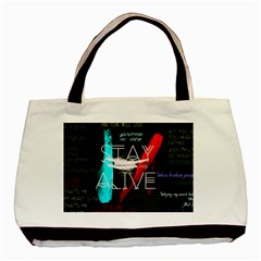 Twenty One Pilots Stay Alive Song Lyrics Quotes Basic Tote Bag (two Sides) by Onesevenart
