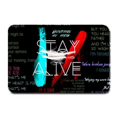 Twenty One Pilots Stay Alive Song Lyrics Quotes Plate Mats by Onesevenart