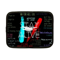 Twenty One Pilots Stay Alive Song Lyrics Quotes Netbook Case (small)  by Onesevenart