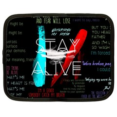 Twenty One Pilots Stay Alive Song Lyrics Quotes Netbook Case (xl)  by Onesevenart