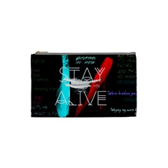 Twenty One Pilots Stay Alive Song Lyrics Quotes Cosmetic Bag (small)  by Onesevenart