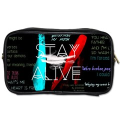 Twenty One Pilots Stay Alive Song Lyrics Quotes Toiletries Bags 2 Side by Onesevenart