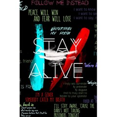 Twenty One Pilots Stay Alive Song Lyrics Quotes 5 5  X 8 5  Notebooks by Onesevenart