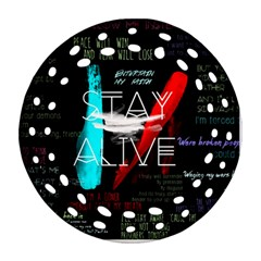 Twenty One Pilots Stay Alive Song Lyrics Quotes Ornament (round Filigree) by Onesevenart