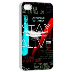Twenty One Pilots Stay Alive Song Lyrics Quotes Apple Iphone 4/4s Seamless Case (white) by Onesevenart