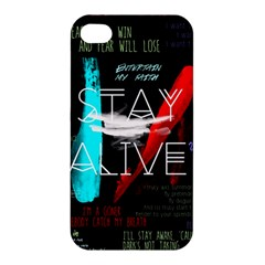 Twenty One Pilots Stay Alive Song Lyrics Quotes Apple Iphone 4/4s Hardshell Case by Onesevenart
