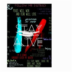 Twenty One Pilots Stay Alive Song Lyrics Quotes Large Garden Flag (two Sides) by Onesevenart
