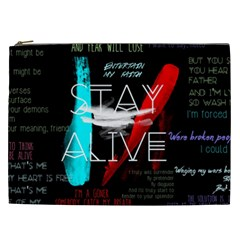 Twenty One Pilots Stay Alive Song Lyrics Quotes Cosmetic Bag (xxl)  by Onesevenart