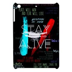 Twenty One Pilots Stay Alive Song Lyrics Quotes Apple Ipad Mini Hardshell Case by Onesevenart