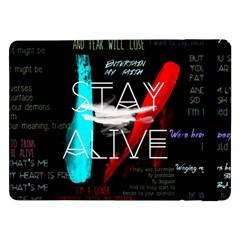 Twenty One Pilots Stay Alive Song Lyrics Quotes Samsung Galaxy Tab Pro 12 2  Flip Case by Onesevenart