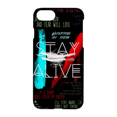 Twenty One Pilots Stay Alive Song Lyrics Quotes Apple Iphone 7 Hardshell Case by Onesevenart