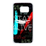 Twenty One Pilots Stay Alive Song Lyrics Quotes Samsung Galaxy S7 White Seamless Case