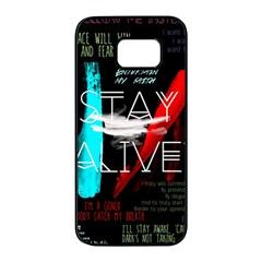 Twenty One Pilots Stay Alive Song Lyrics Quotes Samsung Galaxy S7 Edge Black Seamless Case by Onesevenart