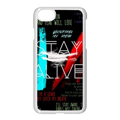 Twenty One Pilots Stay Alive Song Lyrics Quotes Apple Iphone 7 Seamless Case (white) by Onesevenart